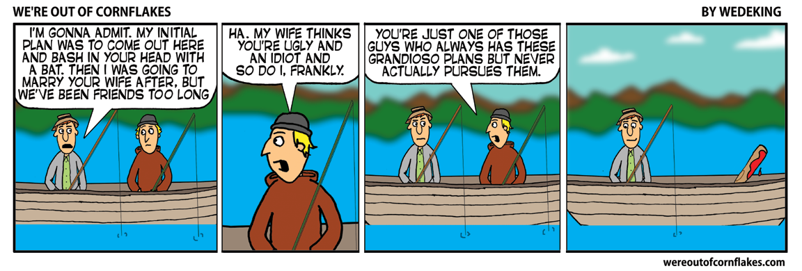 Confession on a fishing trip