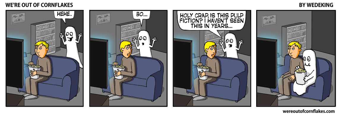 Ghost gets preoccupied during scare