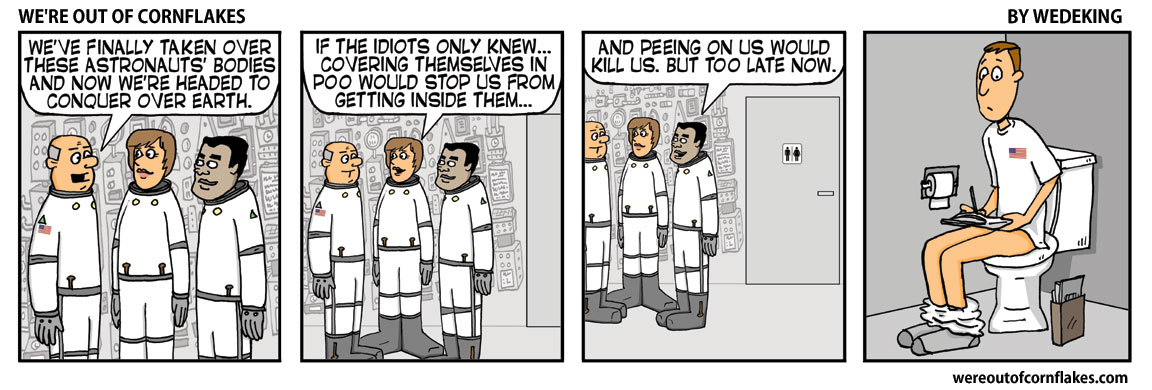 The astronaut body snatchers