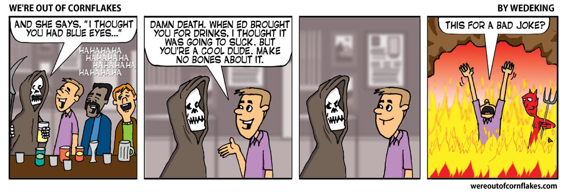 Having drinks with Death