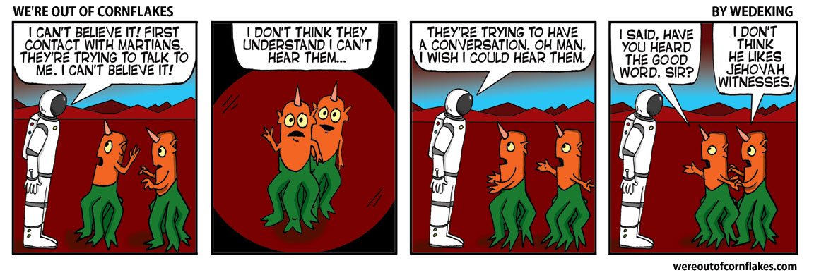 The martians are trying to speak!