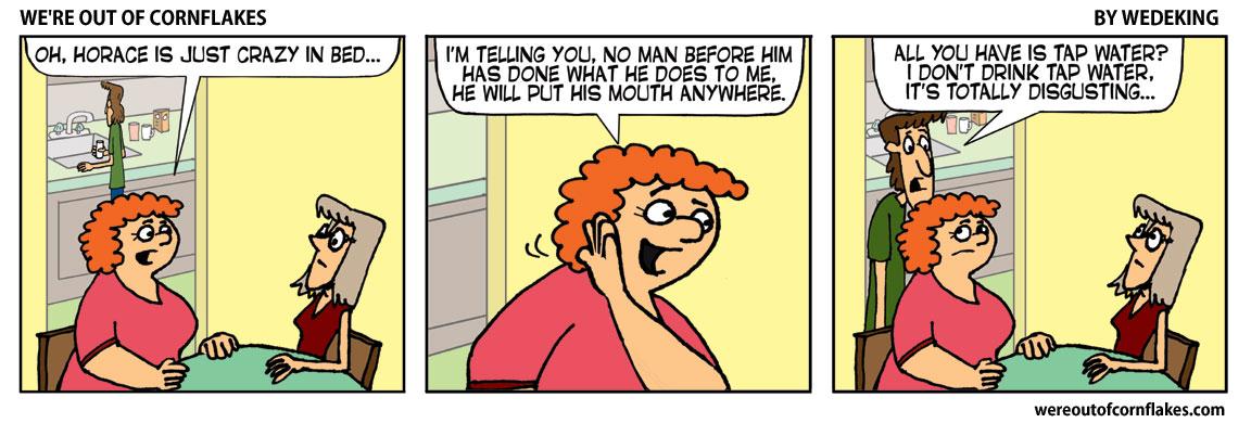 Myrtle tells some of Horace's secrets