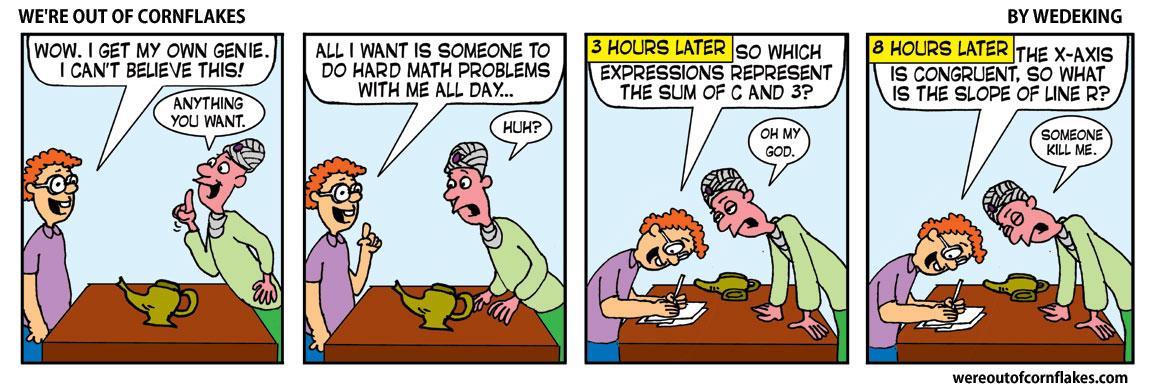 Math nerd gets his own genie