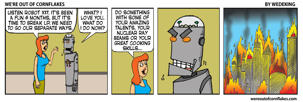 Breaking up with a robot