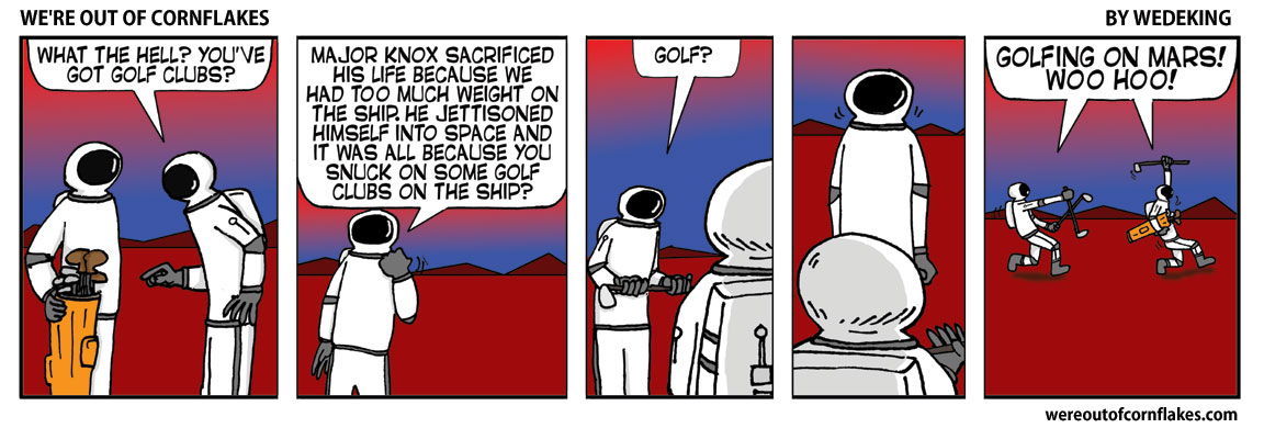 Sneaking golf clubs onto Mars