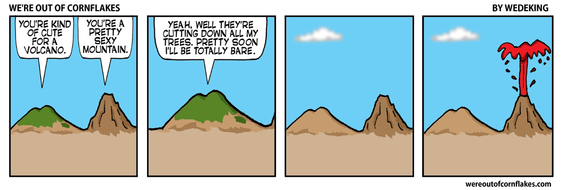 Volcano talks to mountain