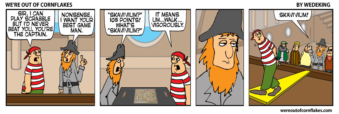 Pirates play Scrabble