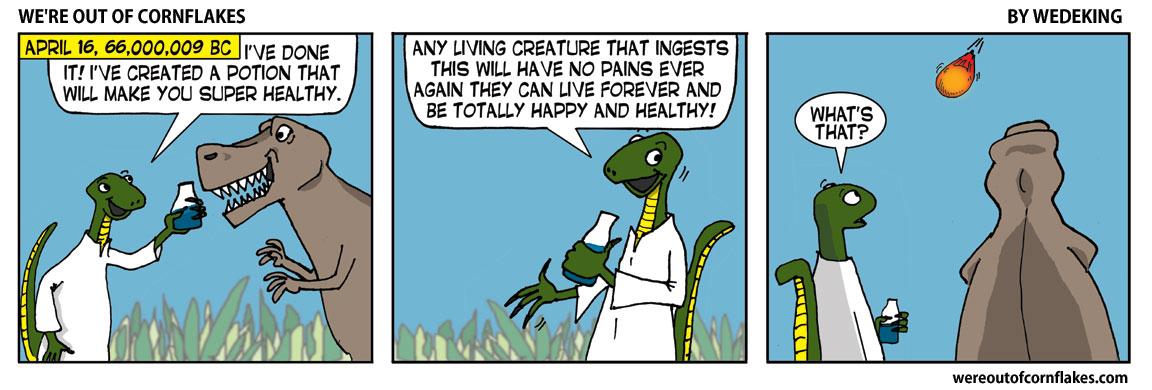 Dinosaur creates magic liquid