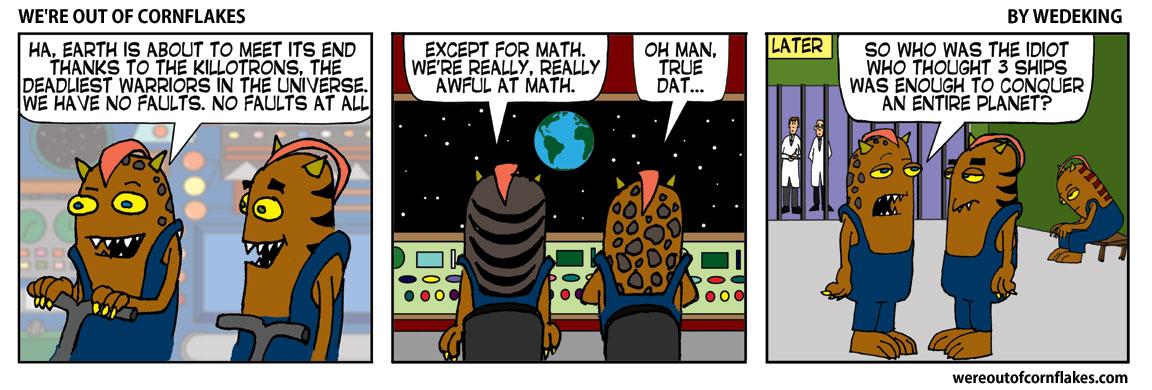Aliens bad at math