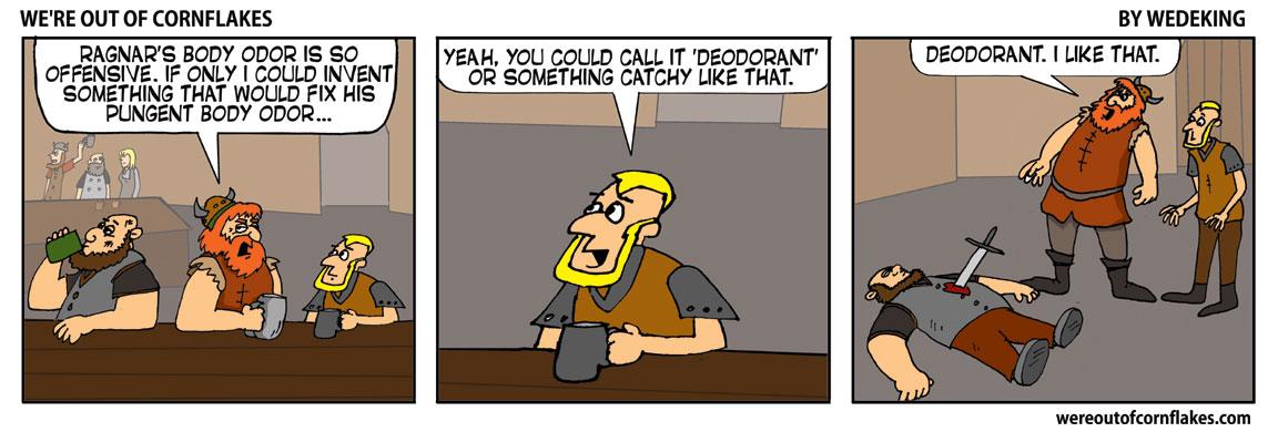 Invention of deodorant