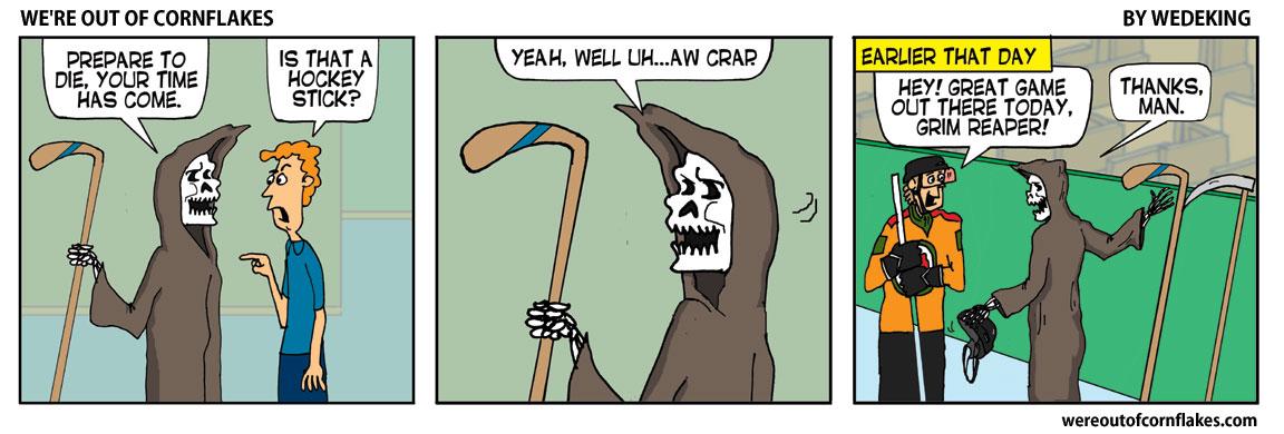 Grim Reaper goof