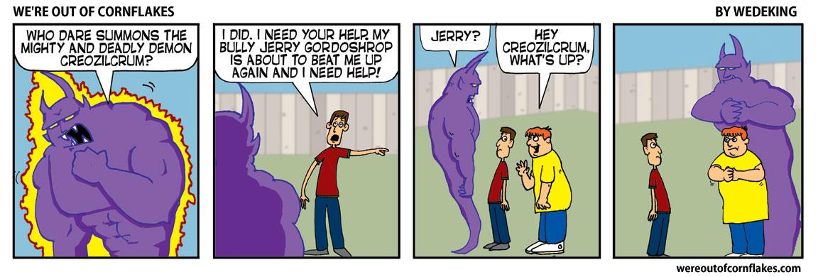 Nerd summons a demon for help