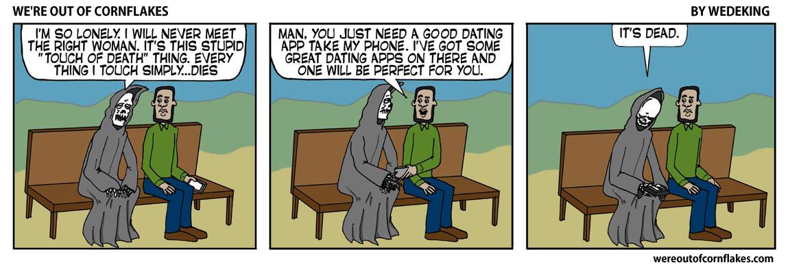 Grim Reaper can't get a girlfriend