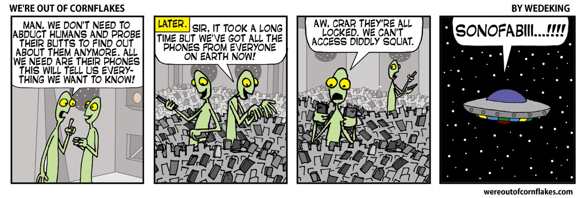 The Aliens get all the phones
