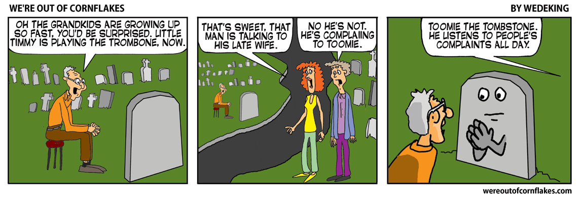 Grandpa hanging out in the graveyard